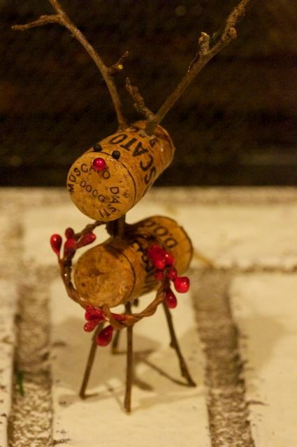 Wine cork reindeer by thelittlegreenbean on Etsy, $12.00