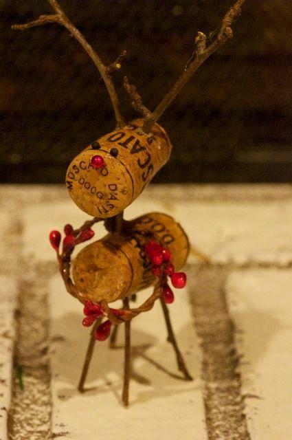 Wine cork reindeer by thelittlegreenbean on Etsy, $12.00