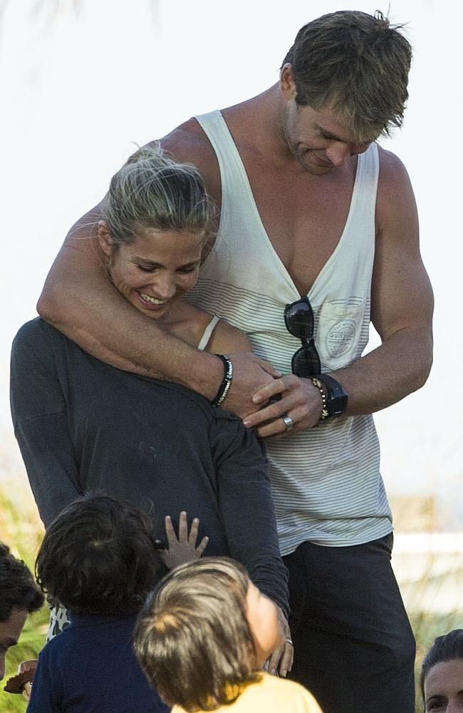 So in love: Chris and Elsa.- - - Can you imagine growing up in this family?  With this man as your father? ? ?