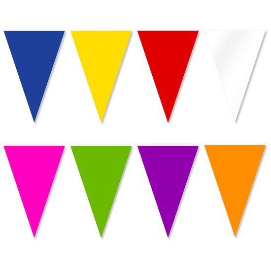 Banner stegulete din plastic colorat - 50 m | Aniversaria.ro