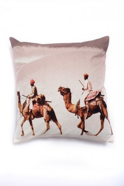 ~Camel cushion spurs Egyptian dreams and desert yearnings~