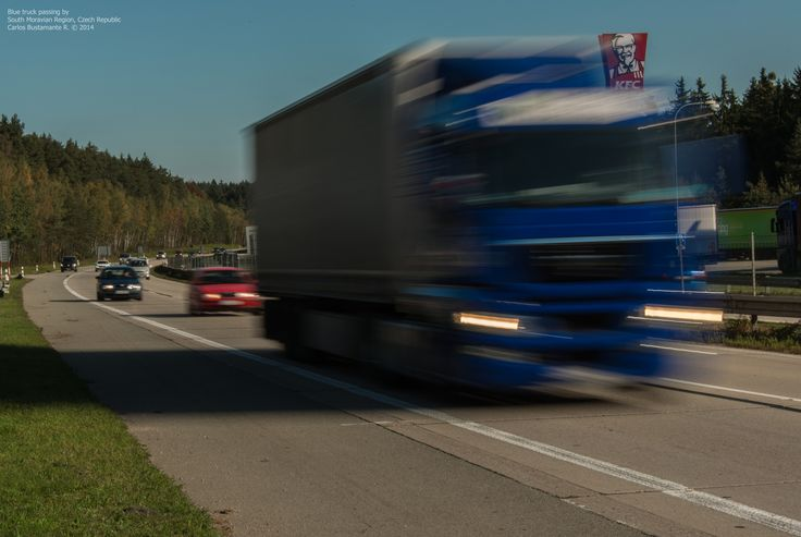 https://flic.kr/p/wLo1BA   Blue truck passing by.