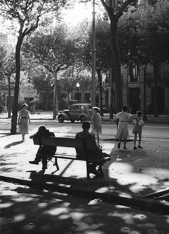 Gran Via de Barcelona. 1955