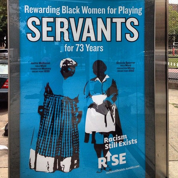 "Rewarding Black Women for Playing Servants for 73 Years    [click on this image to find a short clip and analysis exploring the prevalence of the ""magical negro"" trope in Hollywood film]"