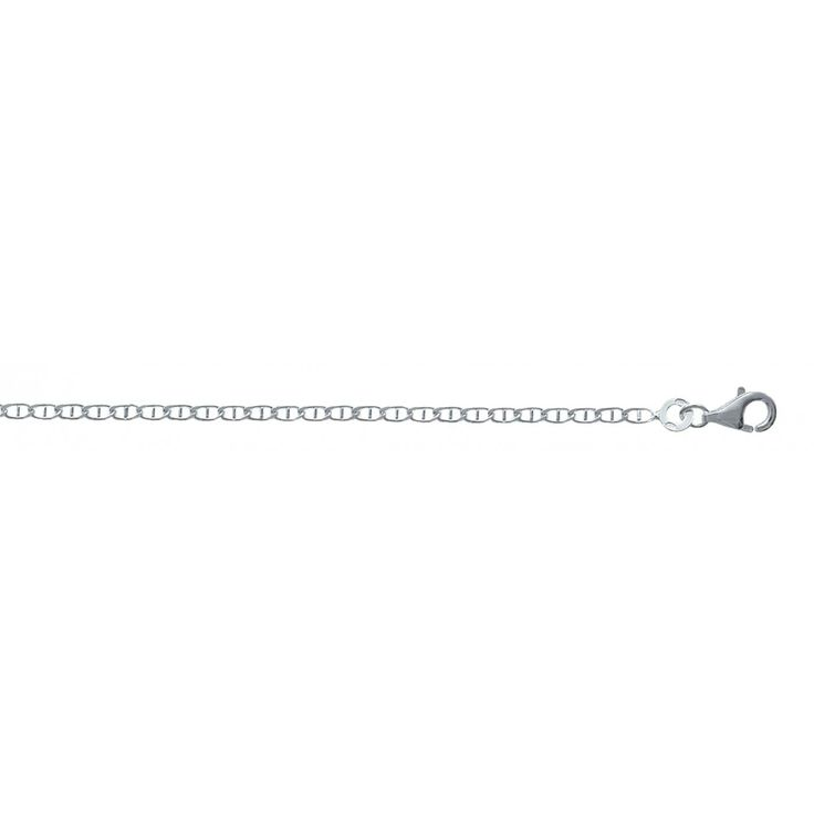 Men silver 2mm navy chains