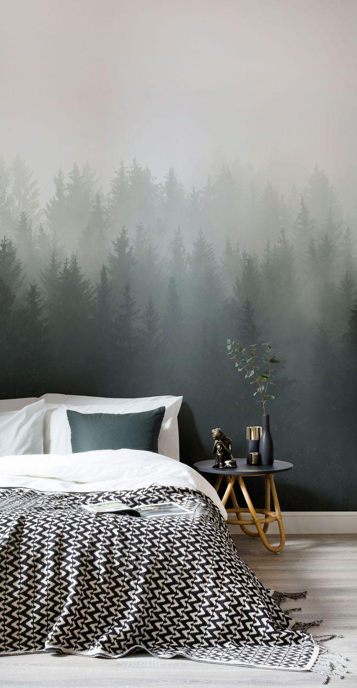 TapetenWandbild Tiefgrner OmbrWald in 2019  Wohnzimmer  Pinterest  Tapeten Schlafzimmer