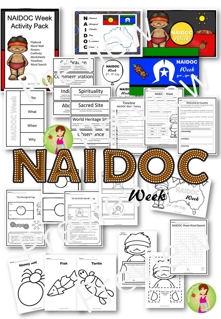 Everything you need to celebrate NAIDOC Week in your classroom and explore Australian Aboriginal culture. Activities, craft, wall displays, dot painting outlines, vocabulary and much more.