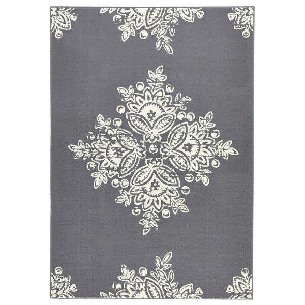 2500** POLYPROPYLEN  Šedý koberec Schöngeist & Petersen Gloria Blossom, 200 x 290 cm