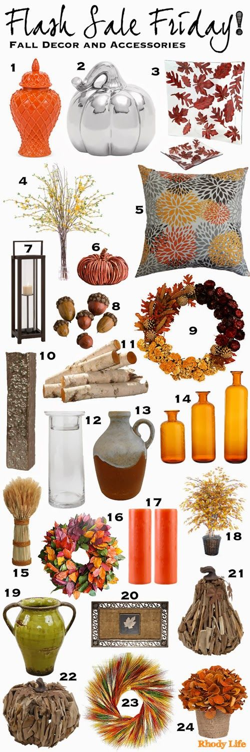 flash sale friday fall decor and accessories via rhody life - Fall Decorations For Sale