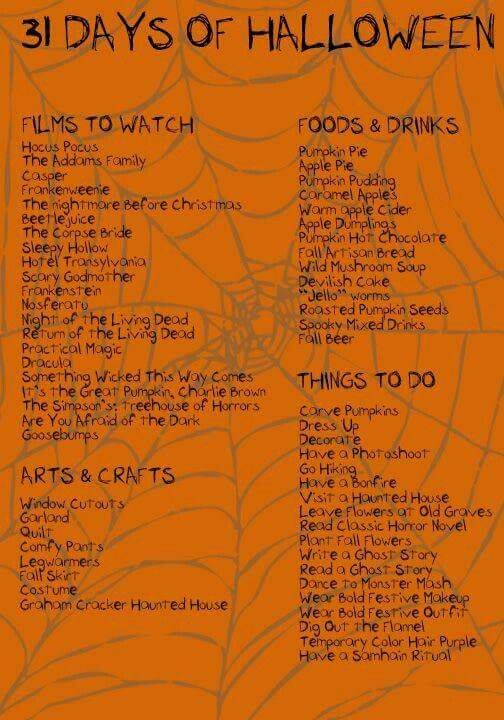 Die ultimative Halloween To-Do-Liste!