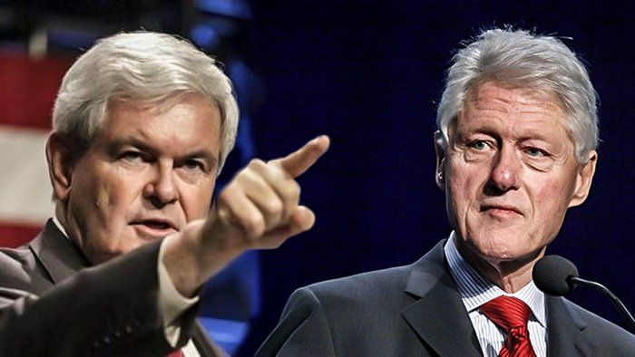 Newt Gingrich Exposed Every DIRTY Lie In Bill Clinton's DNC Speech On LIVE TV