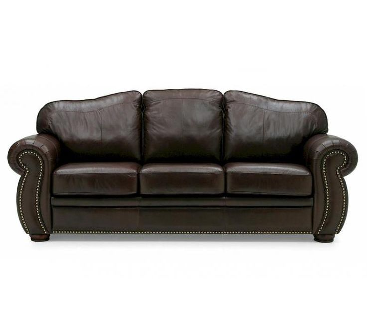Palliser Furniture Troon Leather Sofa Upholstery: All Leather Protected    Tulsa II Bisque, Leg Finish: Stainless Steel