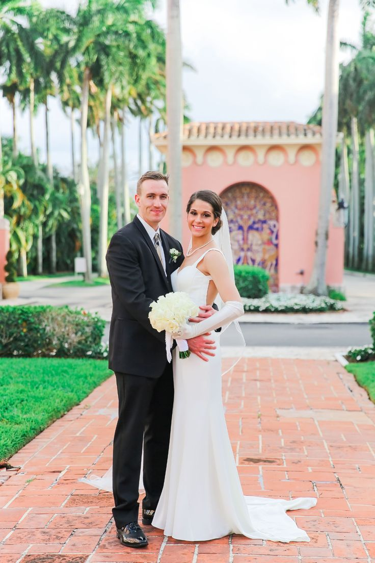Classically elegant south Florida wedding with garden ceremony and ballroom reception at Boca Raton Resort & Club | Florida wedding venues outdoor, Florida wedding venues gardens, Florida wedding venues indoor, Florida hotel wedding venues (Scribbled Moments Photography)