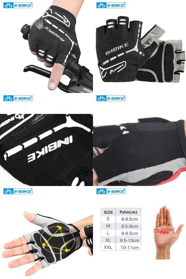 [Visit to Buy] INBIKE Cycling Gloves Men Women Half Finger Bike Gloves MTB Gloves Padded Breathable Shockproof Outdoor Sport Gloves #Advertisement