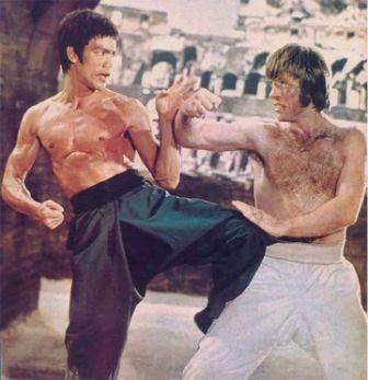 Bruce Lee beats-up Chuck Norris.