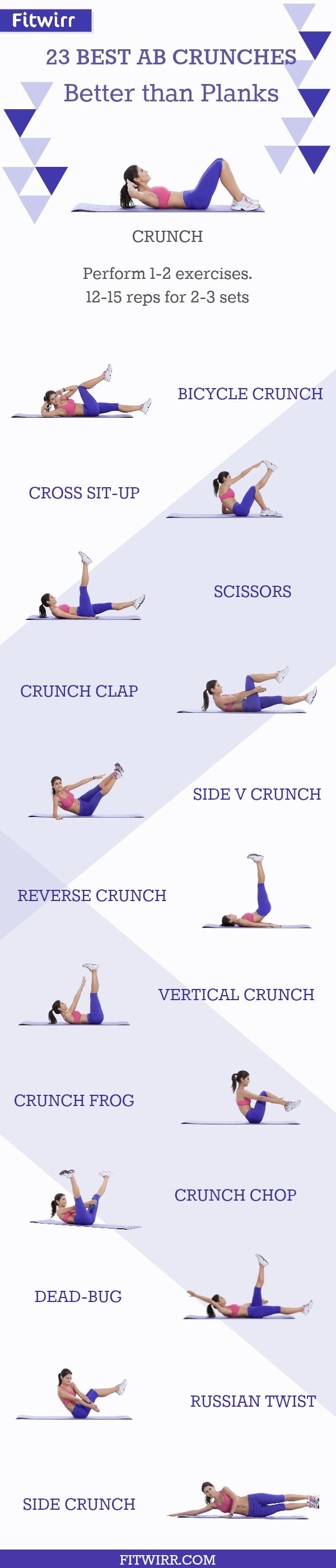 #Crunches that work your #abs harder than #plank