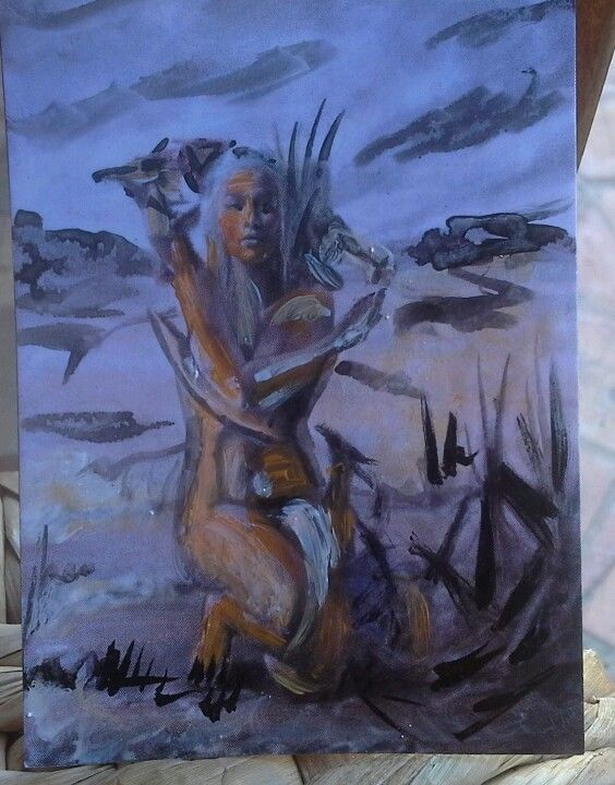 Aceo Game of thrones Daenerys Targaryen Aceo painting  . Sketch Card Acrylic