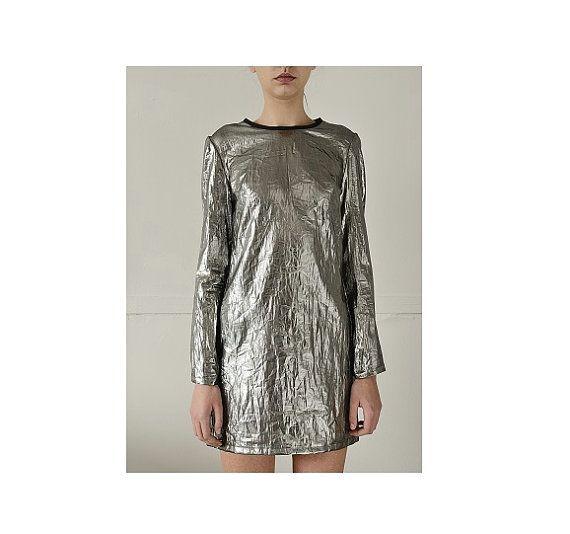 SALE Silver Dress Avant Garde Clothing Club Dress