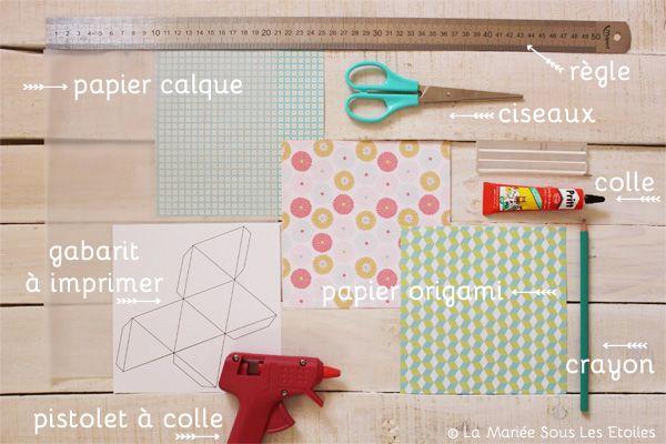 DIY {Do It Yourself} Marque-places géométriques en origami |Etape 1 par La Mariée Sous Les Etoiles