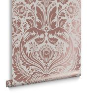 Desire Rose Gold & Mink Wallpaper, , large Graham and Brown
