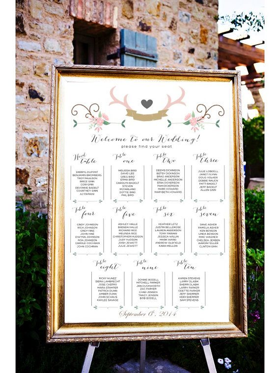 Wedding Table Ignments Board Listings Seating Ignment Poster Place Cards