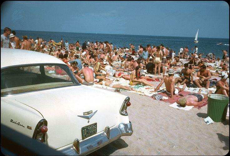 Пляж в районі Форт-Лодердейл, Флорида, 1966