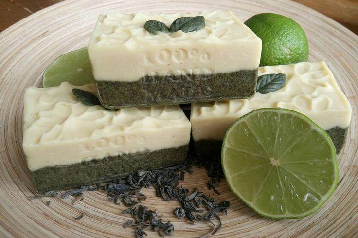 Lime-Green tea soap