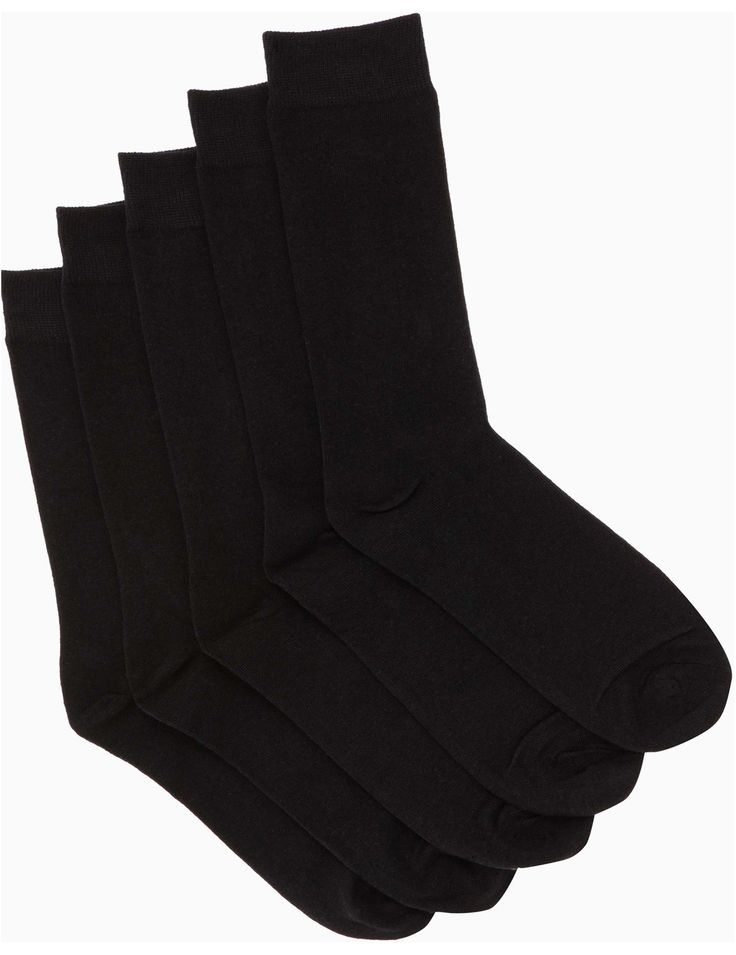 This convenient pack of 5 cotton rich business socks will see you through the week.