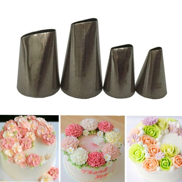 10pc Icing Tips Coupler Nozzles Pastry Decor DIY Cake Converter Piping Tool