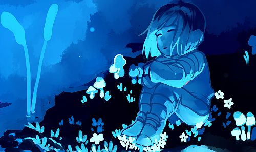 undertale frisk in waterfall - photo #8