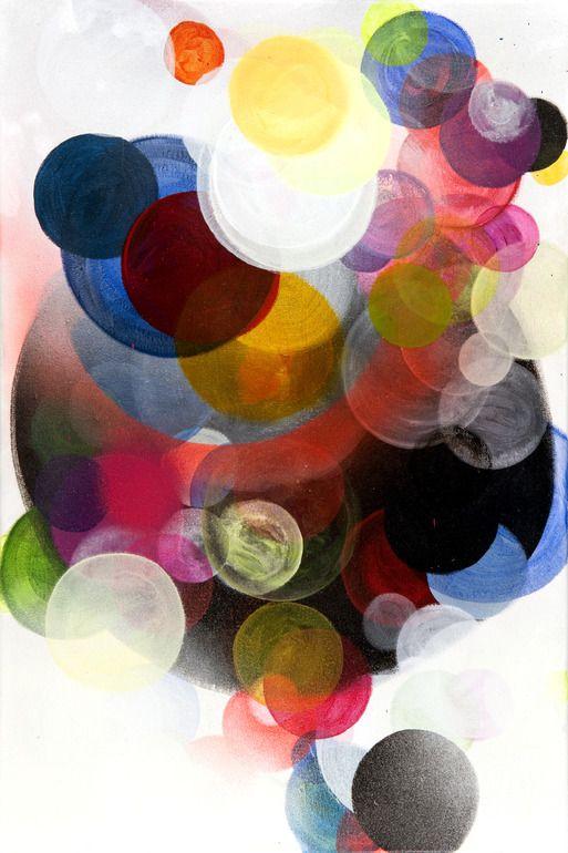 """Saatchi Online Artist: Paula Baader; Mixed Media, 2011, Painting """"Circles#3"""""""