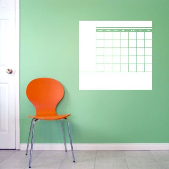 Dry Erase Calendar With Notes Dry Erase by SweetumsSignatures