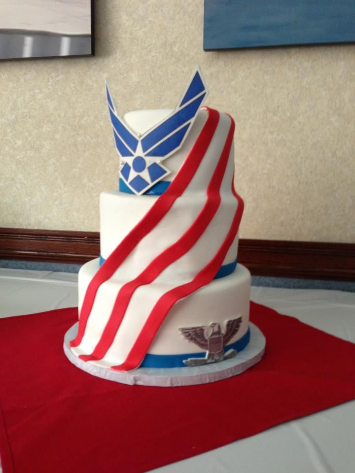 air force promotion cake