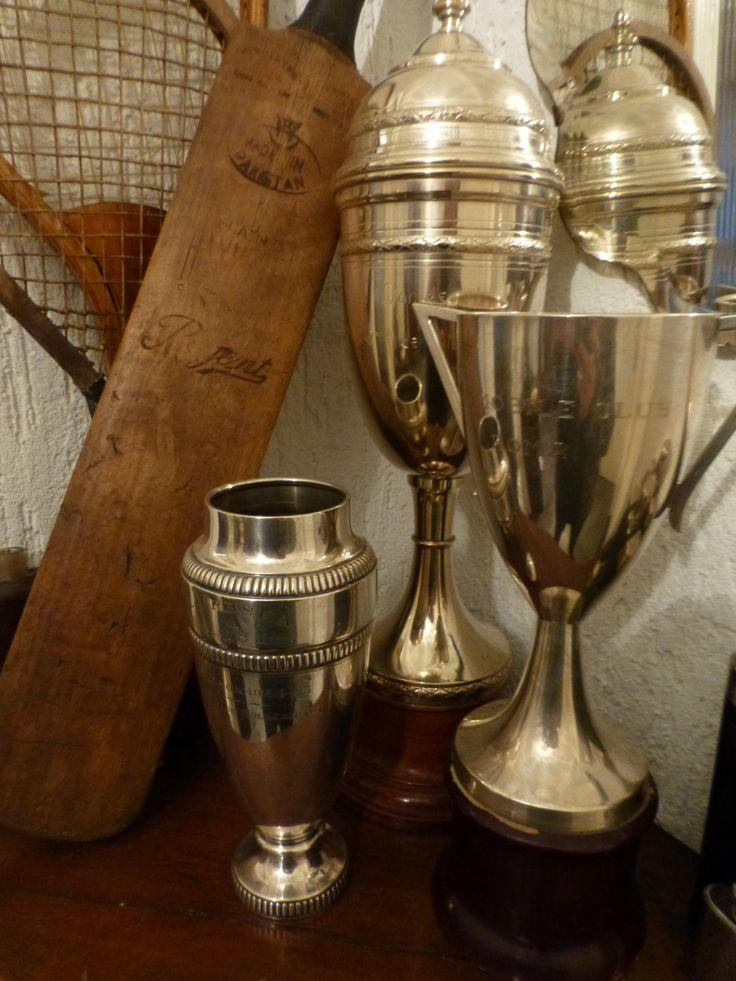 I love vintage trophies in design