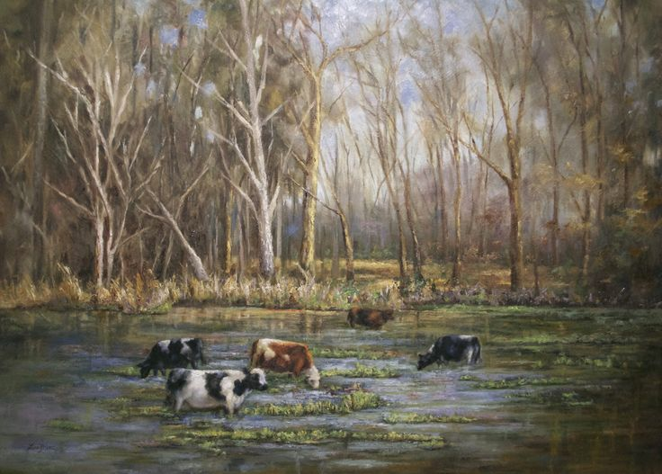 Water Grazing-22x30 Oil on Canvas by Lisa Price www.lisapricefineart.com