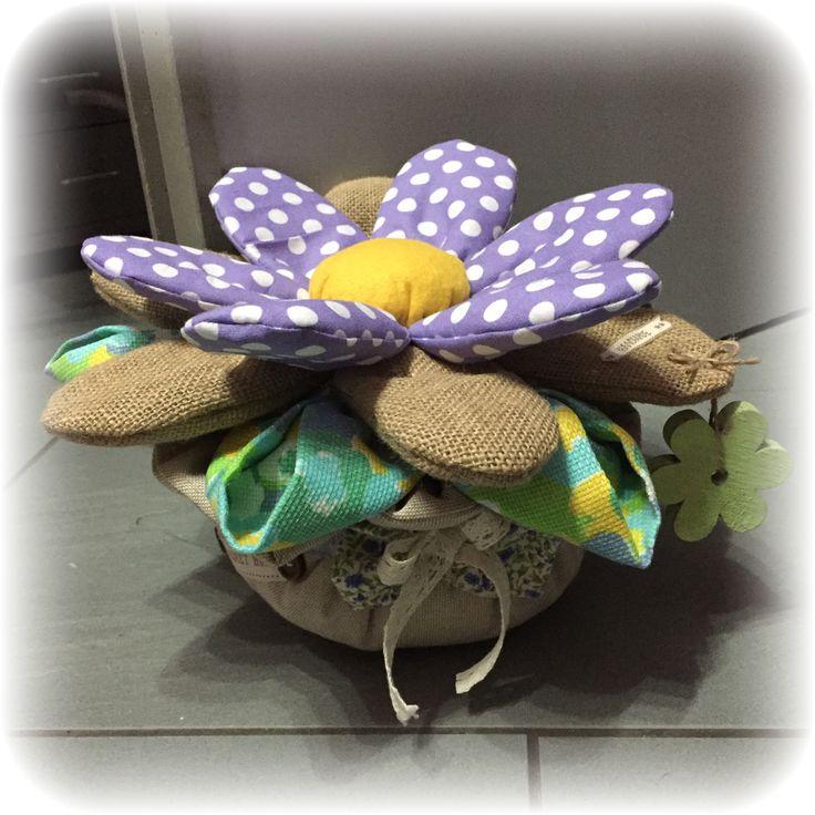 vaso fiorito  fermaporta vaso e flor peso de porta door stop