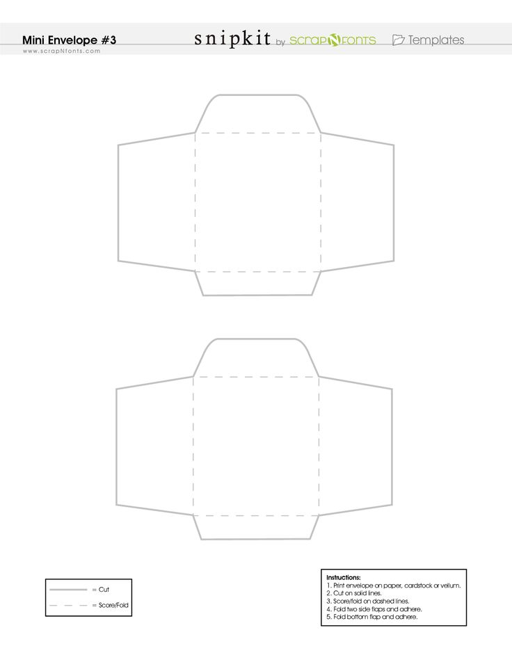 Free Printable Mini Envelope Template - PDF
