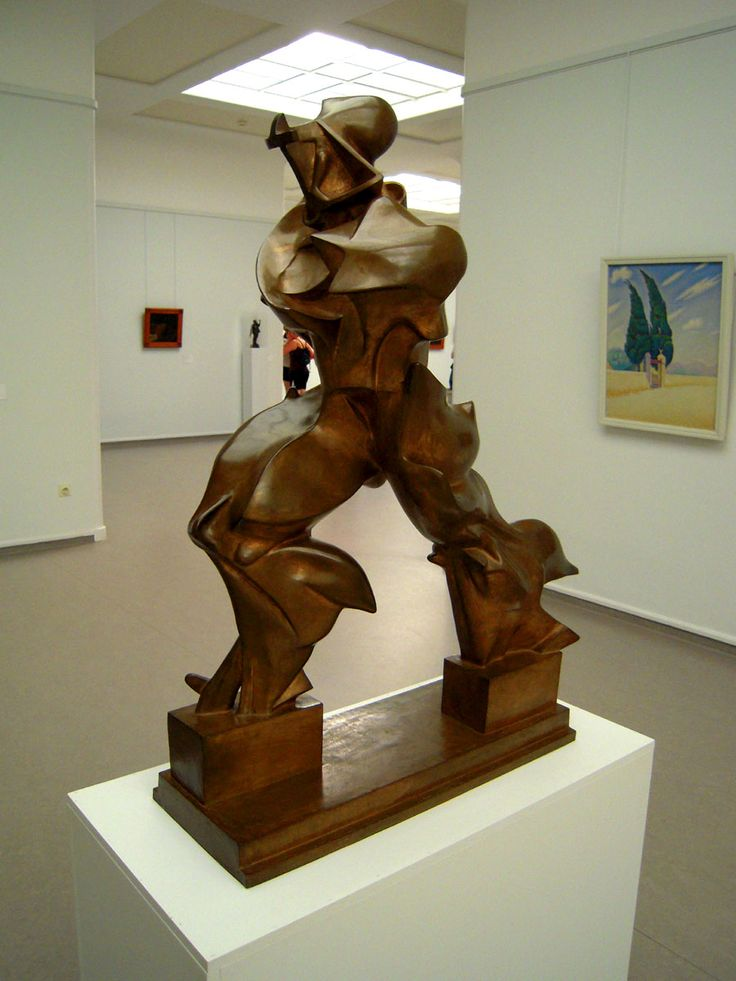 """Umberto Boccioni's """"Unique Forms of Continuity in Space"""" at the Kroller-Muller Museum in the Hoge Veluwe national park. (One of my all time favorite sculptures)"""