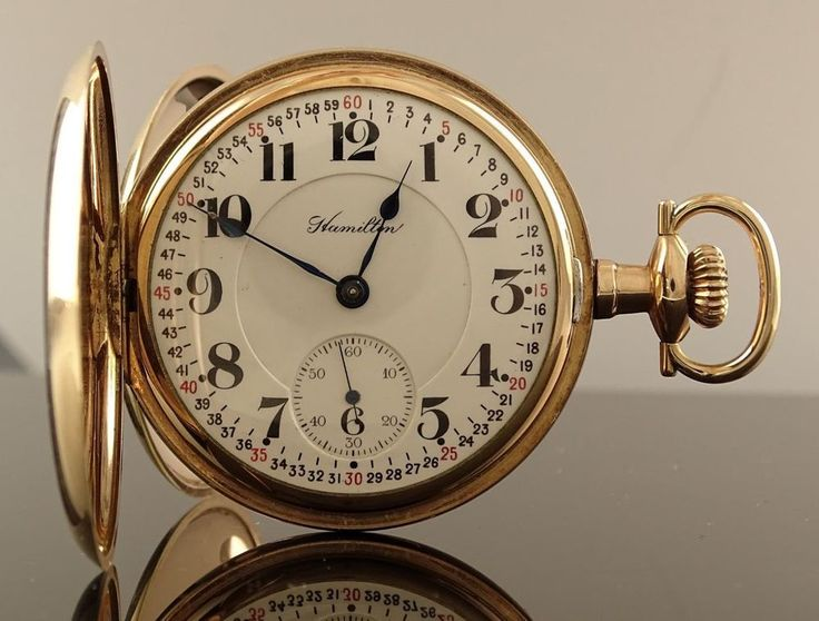 ~RARE ANTIQUE HAMILTON WATCH CO. GT GJS THOR HUNTER RAILROAD POCKET WATCH 1915~ #HAMILTONWATCHCO