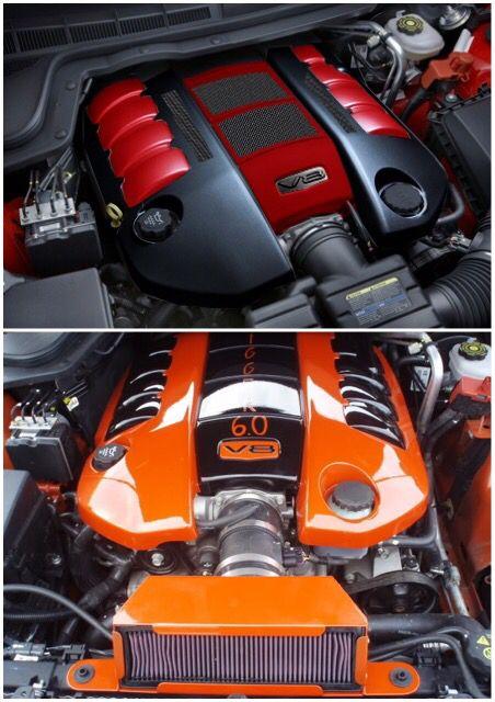 Painted Pontiac G8 GT Engine