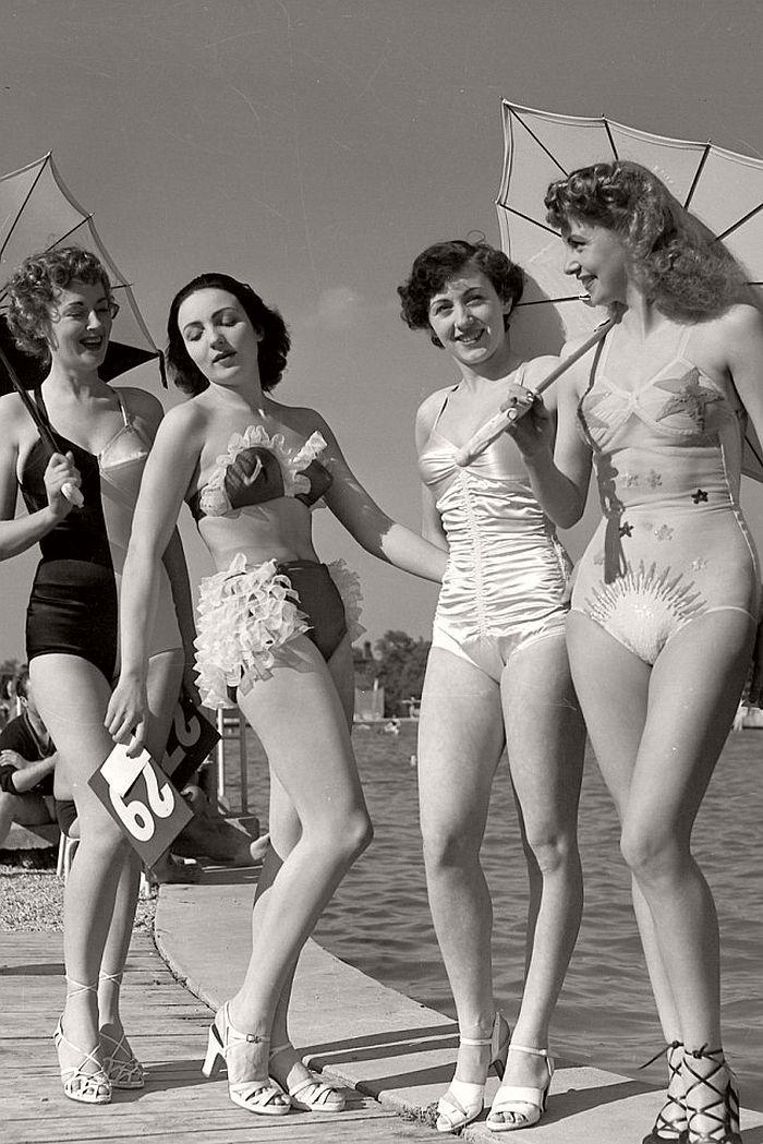 Swimsuit competition, Paris, 1949 - simple dreams...