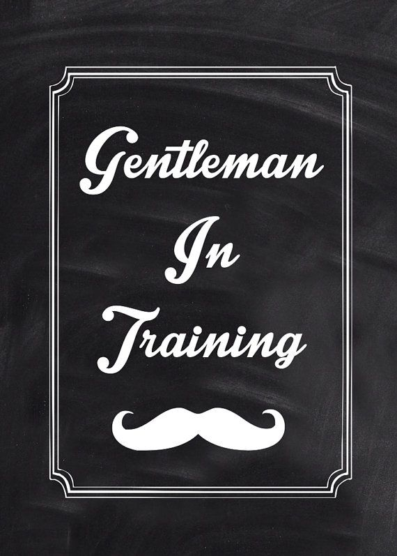 Baby Boy Gentleman Nursery Wall Art
