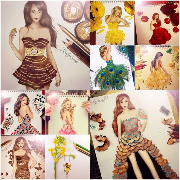 Fab Ideas on Beautiful Creative Fashion Sketches