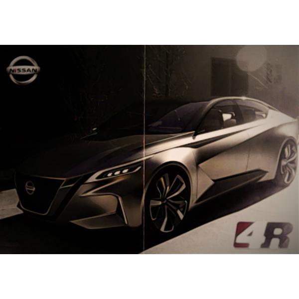 Póster 100% Original Del Auto Concepto Nissan Vmotion 2.0.  Impreso por ambos lados. Precio: $80.00 pesos + gastos de envío.