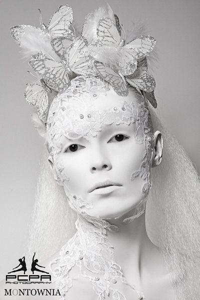 White:  #White ~ Creative Styling - Frozen  Copyright PCPA Studio  Makeup | High Fashion | Artistic.