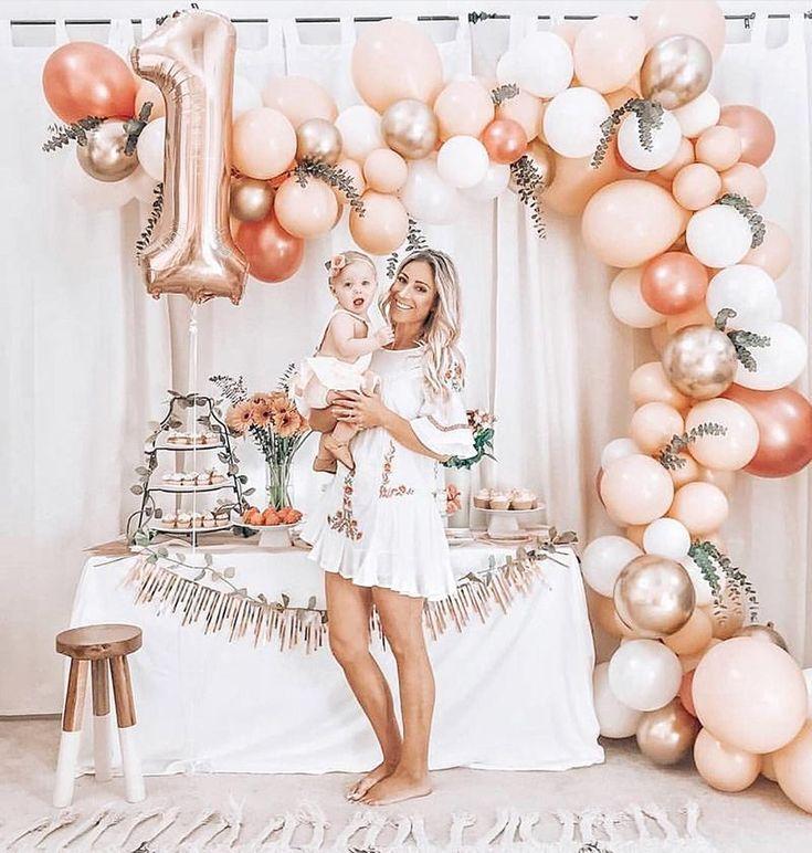Ongebruikt DIY Balloon Garland   Baby eerste verjaardag, Verjaardagsideeën TU-69