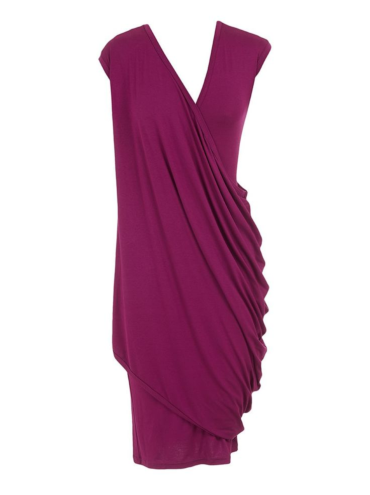 Draped dress Magenta