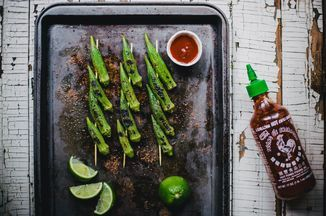 Grilled Okra with Sriracha Lime Salt Recipe on Food52 recipe on Food52