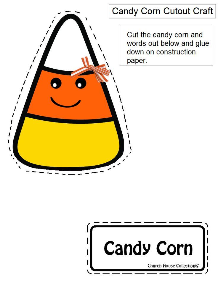 Church House Collection Blog Candy Corn Folder Craft For