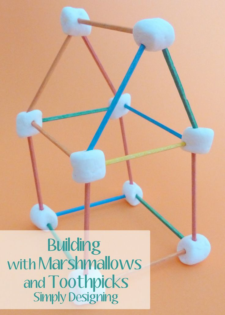 Building with Marshmallows and Toothpicks -  great summer activity to inspire creativity, build fine motor skills and is tasty too!  Great summer Boredom Buster!  from Simply Designing #summer, #boredombuster, #kidscraft, #craft, #kids, #summerfun, #summercrafts